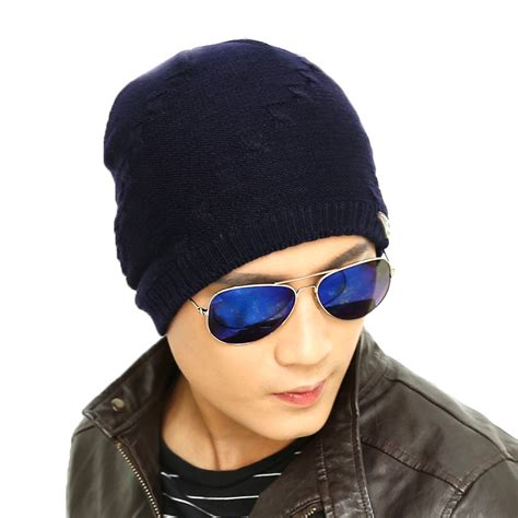 topi kupluk rajut wool velvet musim dingin black jakartanotebook