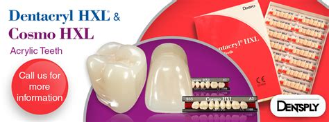 Dentacryl HXL and Cosmo HXL Acrylic Teeth from Dentsply ...