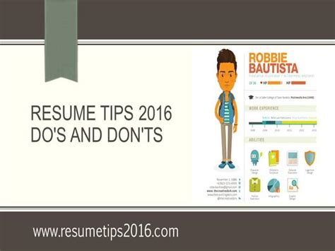 resume dos and donts ppt resume tips 2016 do s and don ts authorstream