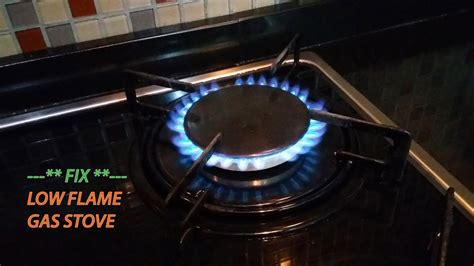 fix  flame  gas stove youtube