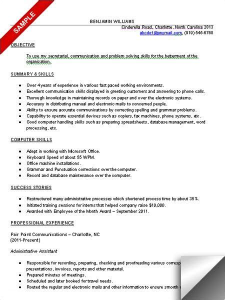 Resume Objective Administrative Assistant Examples Of Resumes