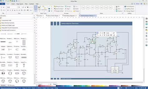 how to draw circuit diagrams in microsoft visio what