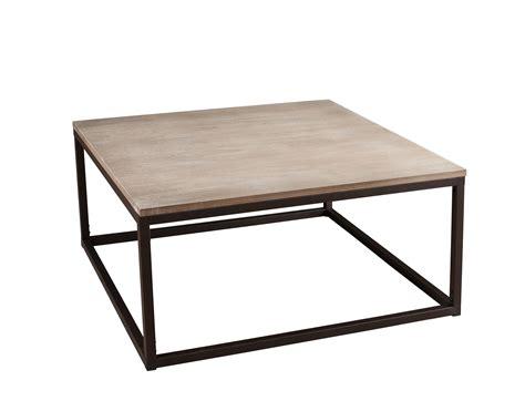 table basse bois metal pas cher table basse en bois