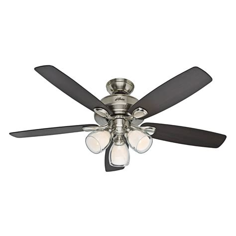 hunter 52 winslow brushed nickel ceiling fan hunter fan company 52 in meridale brushed nickel ceiling