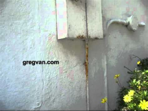 Rusting Electrical Conduit House Building Maintenance