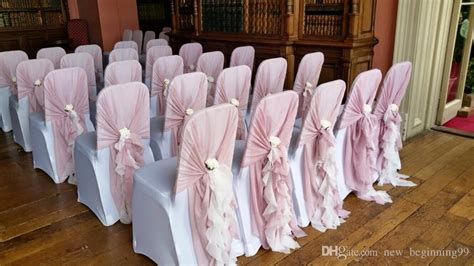 2019 new arrival hot sale blush pink chair covers chiffon