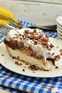 No Bake Chocolate Banana Cream Pie - Little Dairy On the ...