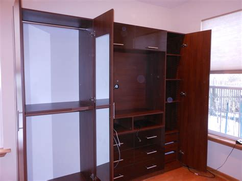 high end custom wardrobe with tv space