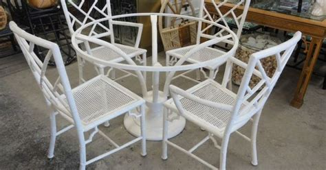 faux bamboo chippendale meadowcraft patio set palm