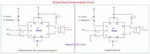 Simple Class D Amplifier Schematic