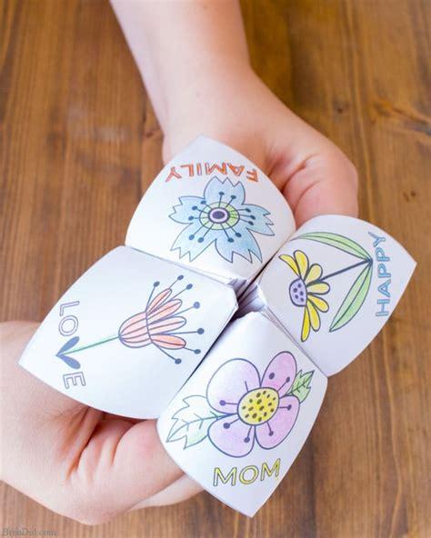 easy mothers day craft  kids fortune teller bren
