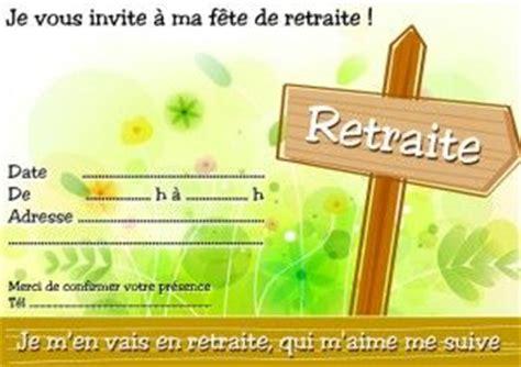 une carte d invitation d 233 part en retraite gratuite 224
