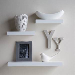 White floating wall shelf decorative shelves ideas