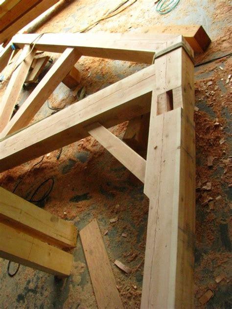 timber frame garage handcrafted wood
