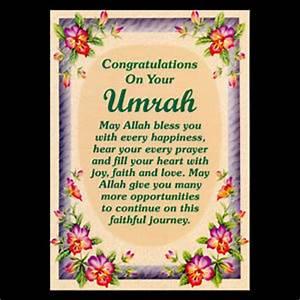 UMRAH MUBARAK Congratulations Greeting Cards Islamic
