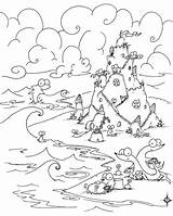 Coloring Pages Sea Castle Sand Beach Creatures Under Wednesday Otter Wacky Tree African Building River Trees Bluebison Elsa Colouring Printable sketch template