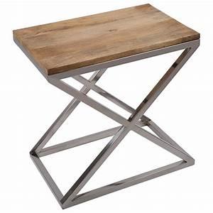 Tisch Metall Holz : beistelltisch rechteckig holz metall tisch verchromt ~ Whattoseeinmadrid.com Haus und Dekorationen