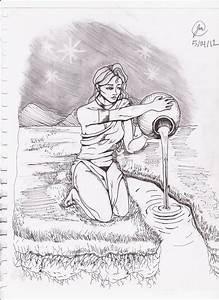 Aquarius Drawing by Jocelyn Montoya