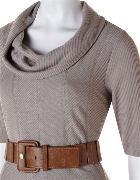 taupe sweater taupe fit and flare sweater dress cleo