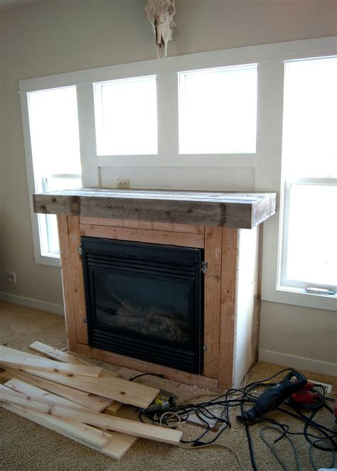 Fireplace Makeover How To Plank A Fireplace Averie