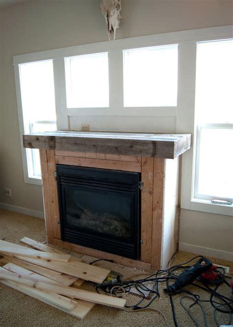 Fireplace Makeover   Reclaimed Wood Mantel   Averie Lane