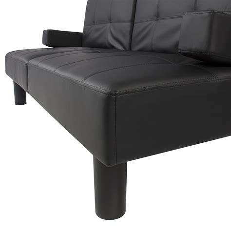 fold down sleeper sofa leather faux fold down futon sofa bed couch sleeper