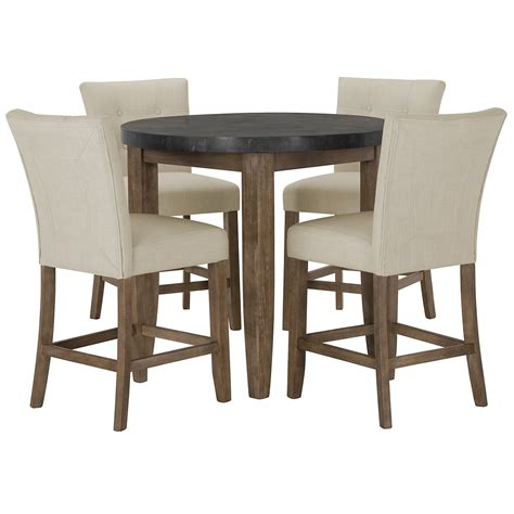 high round dining table city furniture emmett white round high dining table 2