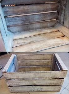 Caisse En Bois à Donner : caisse en bois diy effet blanchi meuble tv bullelodie ~ Louise-bijoux.com Idées de Décoration