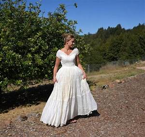 vintage wedding dress prairie style farm or barn wedding With barn dresses wedding