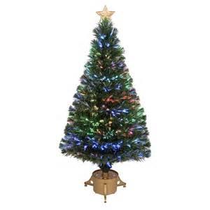 shop merske jolly workshop 4 ft pre lit pine artificial tree with fiber optic