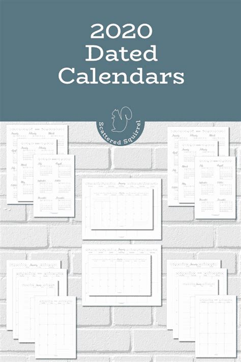 dated  calendars  ready scattered squirrel