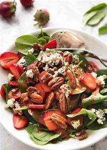 Strawberry Spinach Salad with Strawberry Balsamic Dressing ...