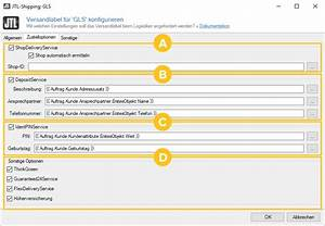 Gls Gurtmaß Berechnen : gls versandlabel konfigurieren jtl guide ~ Themetempest.com Abrechnung