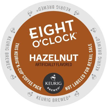 Rich and playfully sophisticated, this 100% arabica blend a treat you can enjoy anytime. Eight O'clock Hazelnut Coffee, K-Cup Portion Pack for Keurig Brewers (24 Count) (1x16oz ...