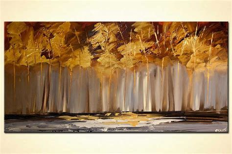 painting  sale golden trees painting abstract