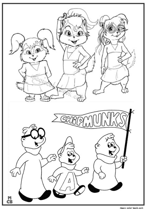 Alvin And The Chipmunk Coloring Pages Chipmunks Coloring Pages Coloring Coloring Pages