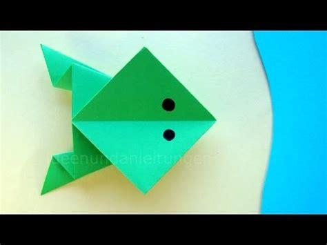tiere aus papier falten origami frosch basteln mit papier papier falten mit kindern diy tiere basteln ideen
