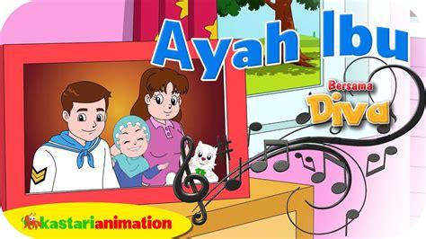 animasi kartun ibu dan anak gambar kartun