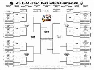 2013 NCAA Tournament Printable Bracket CollegeBasketballTalk