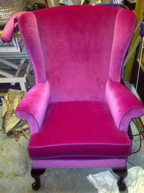 These include armchairs, wingback chairs, upholstered chairs, slat back chairs, cross back chairs and lattice back chairs. High Back Winged Queen Anne Armchair upholstered by London ...