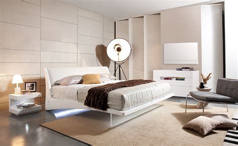 Amazing Bedroom With Floating Bed Frame