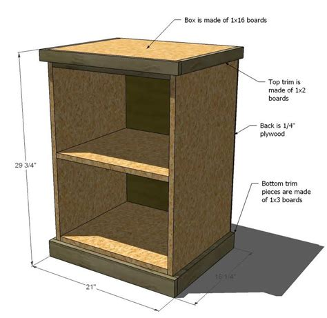 how to build open cabinets ana white build your own office narrow file drawer