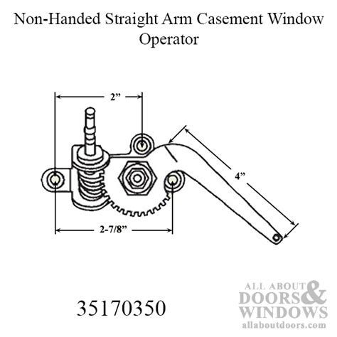 peachtree ariel casement window  handed straight arm operator black