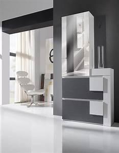 Meuble Entree Blanc : meuble entree moderne chaussures diogo zd1 meu dentr ~ Teatrodelosmanantiales.com Idées de Décoration