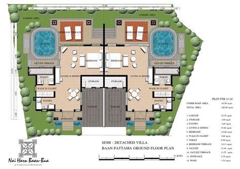 housing blueprints floor plans nai harn baan bua