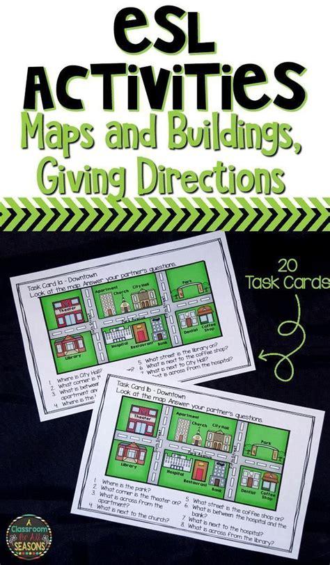 esl speaking activities maps  buildings