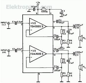 2x10watts Audio Amplifier With Tda2005s Pinout And