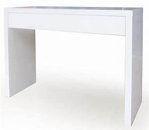 Console Avec Tiroir : console avec tiroir epure blanc ~ Teatrodelosmanantiales.com Idées de Décoration