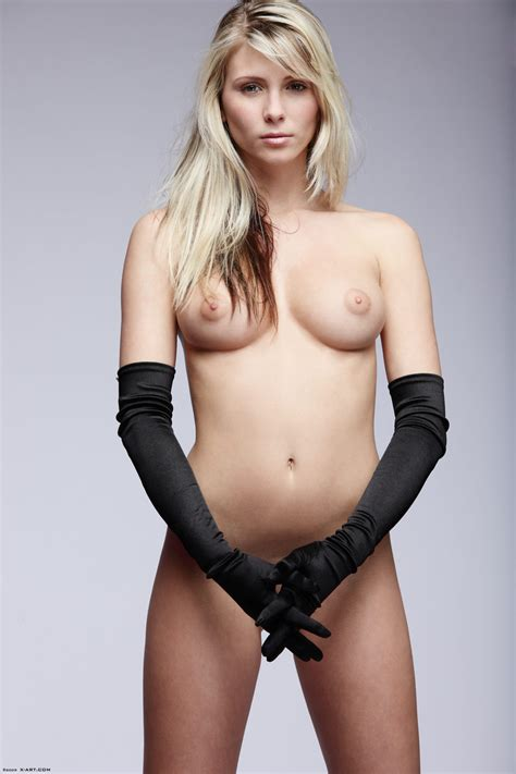 Naked Blonde Posing In Long Gloves Xxx Dessert Picture 3