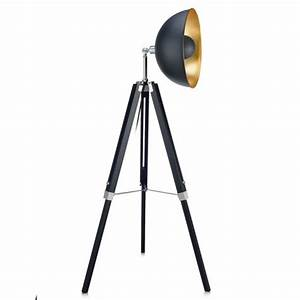 versanora fascino tripod floor lamp black gold target With black tripod spotlight floor lamp gold inner